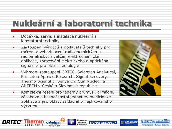 Nukle rn a laboratorn technika