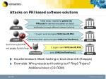 attacks on pki based software solutions
