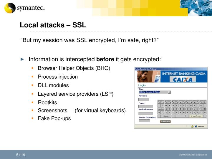 Local attacks – SSL