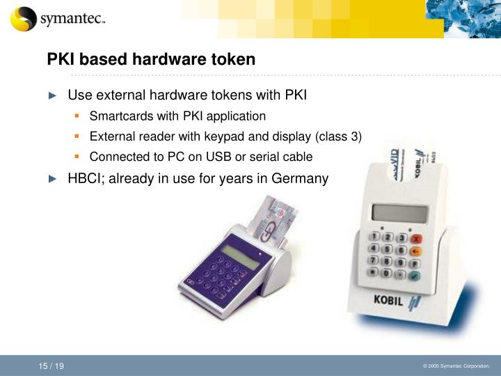 PKI based hardware token
