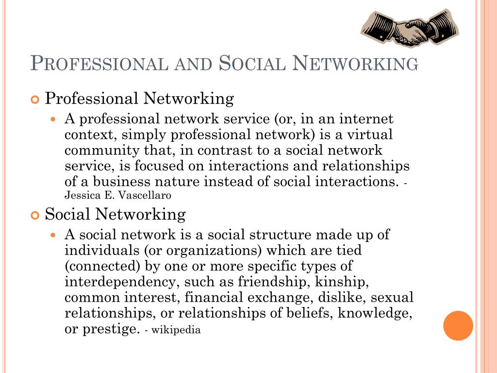 Professional and Social Networking