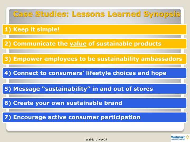 Case Studies: Lessons Learned Synopsis