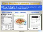 case studies lessons learned