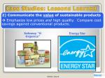 case studies lessons learned1