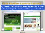 case studies lessons learned3