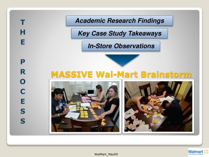 MASSIVE Wal-Mart Brainstorm