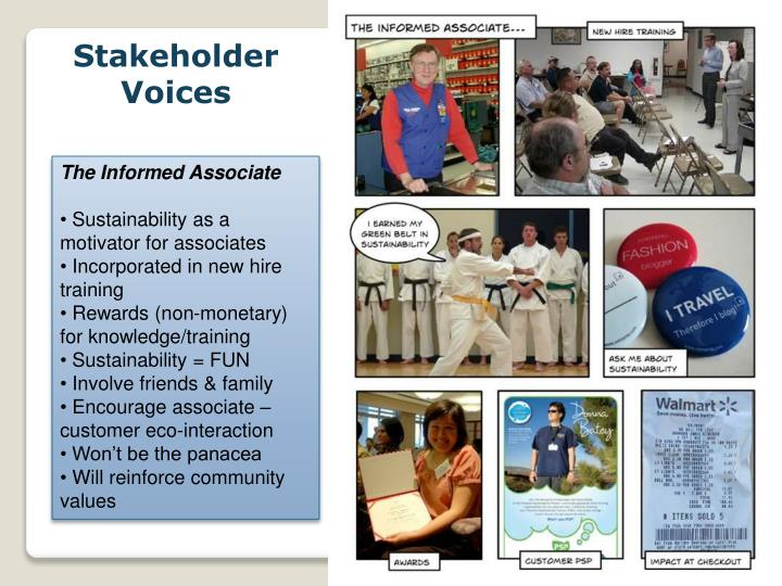 Stakeholder Voices