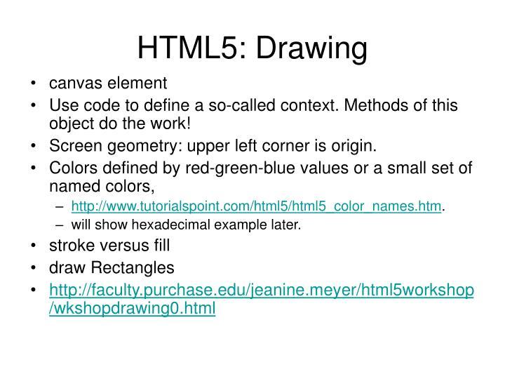 HTML5: Drawing