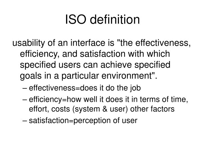ISO definition