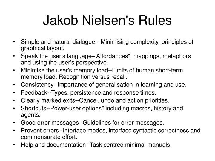 Jakob Nielsen's Rules