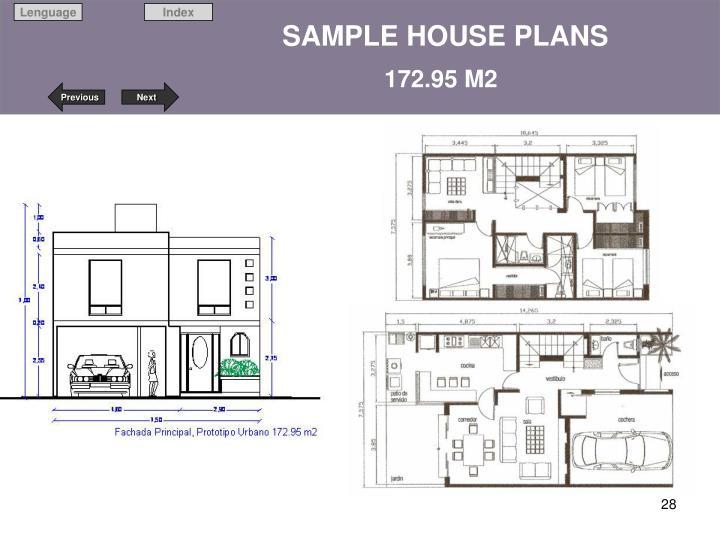 SAMPLE HOUSE PLANS