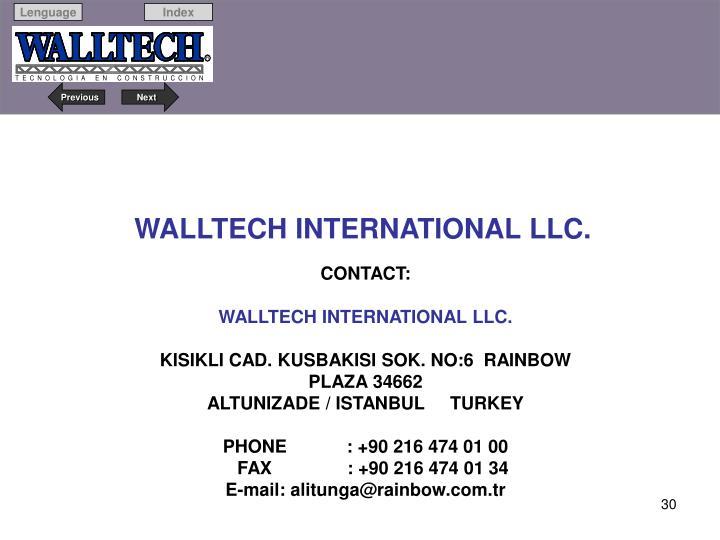 WALLTECH INTERNATIONAL LLC.