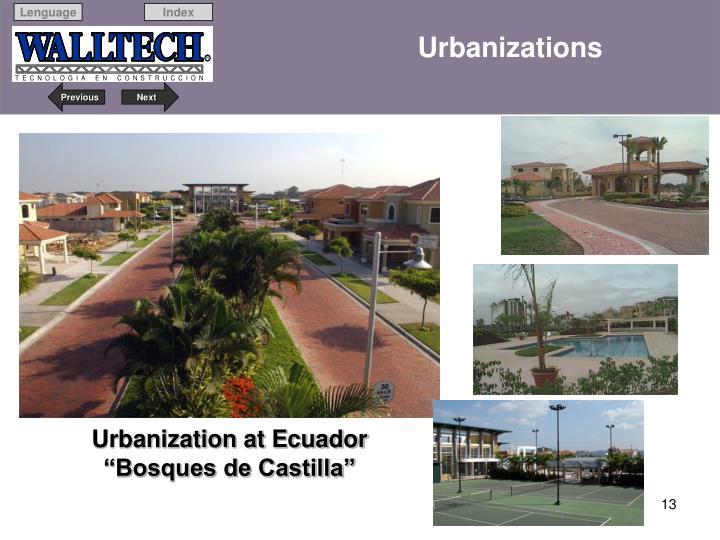Urbanizations