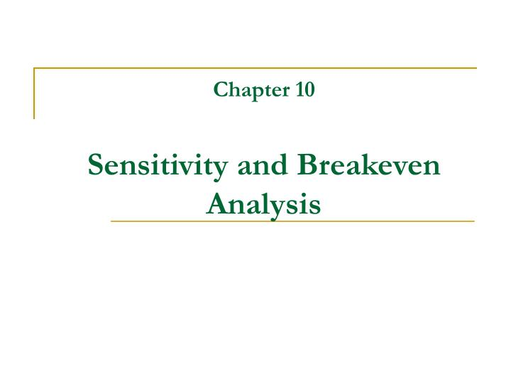 chapter 6 breakeven analysis Breakeven analysis provides data for • profit planning • policy formulating and •decision making break-even analysis may be based on: •historical data, •past operations, or •future sales and costs, depending on management's need and desire •the break even analyses technique is used in various business decision making areas, as.