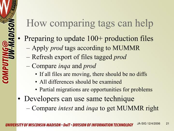 How comparing tags can help