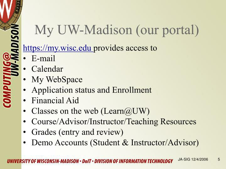 My UW-Madison (our portal)