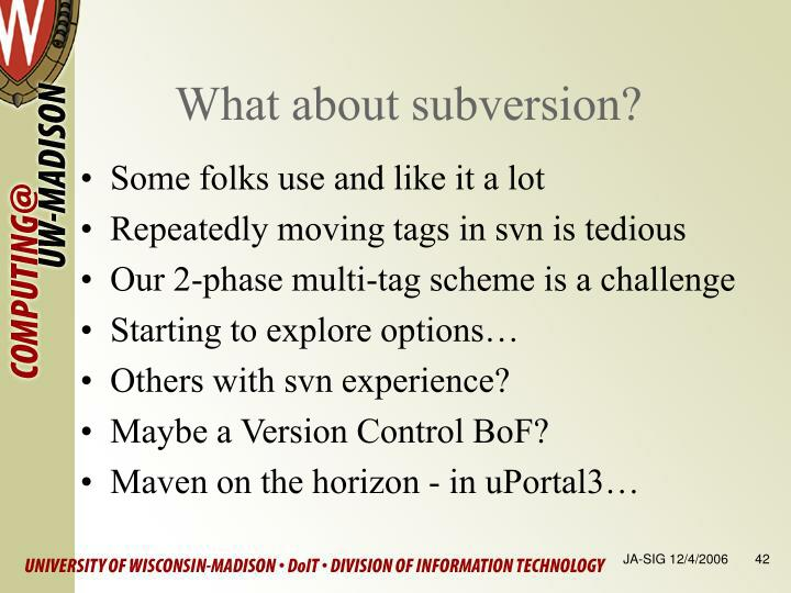 What about subversion?