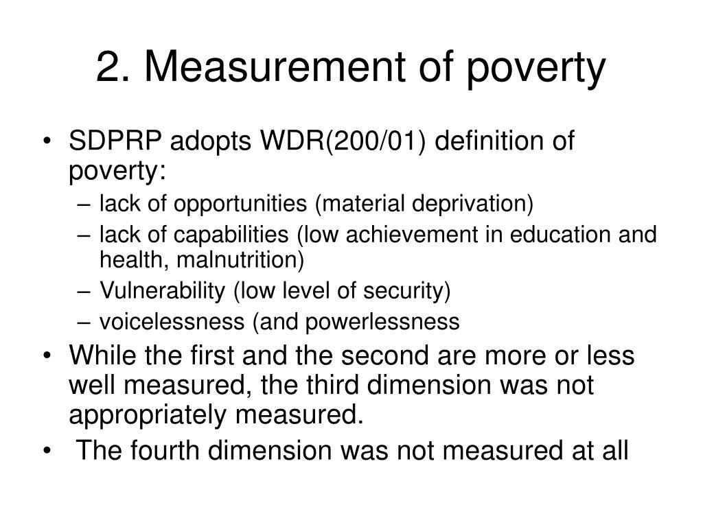 2. Measurement of poverty