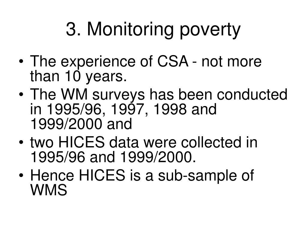 3. Monitoring poverty