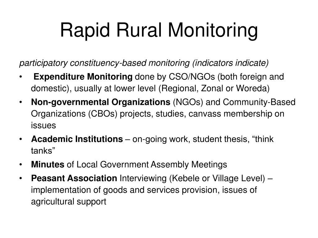 Rapid Rural Monitoring