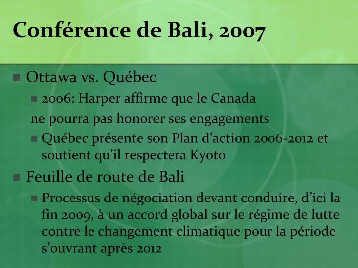 Conférence de Bali, 2007