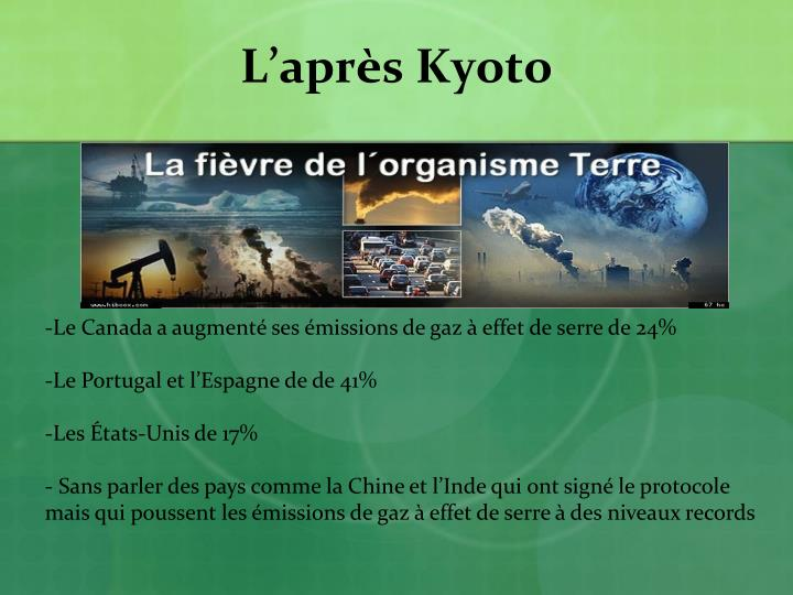 L'après Kyoto