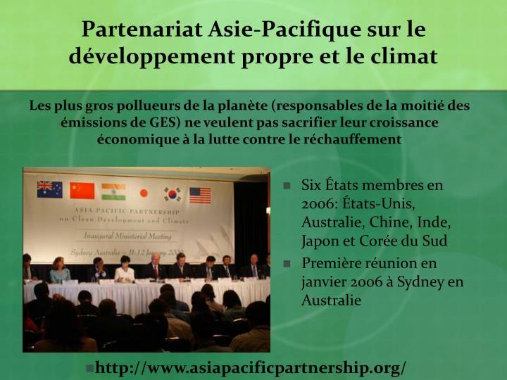 Partenariat Asie-Pacifique sur le développement propre et le climat