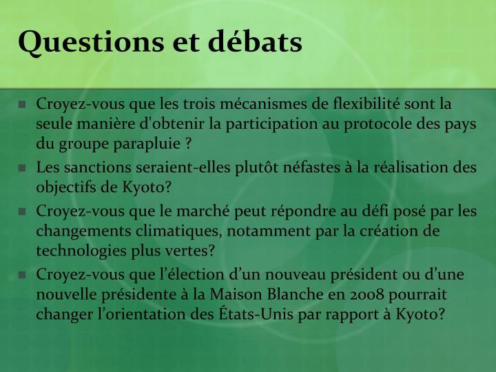 Questions et débats