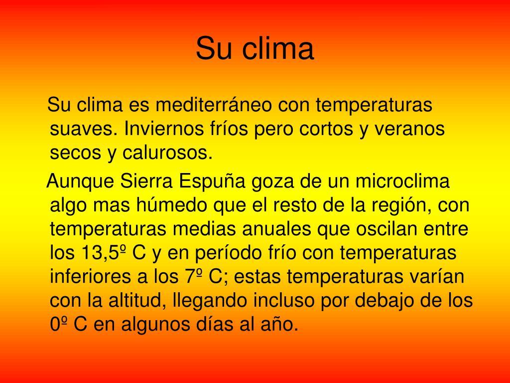 Su clima