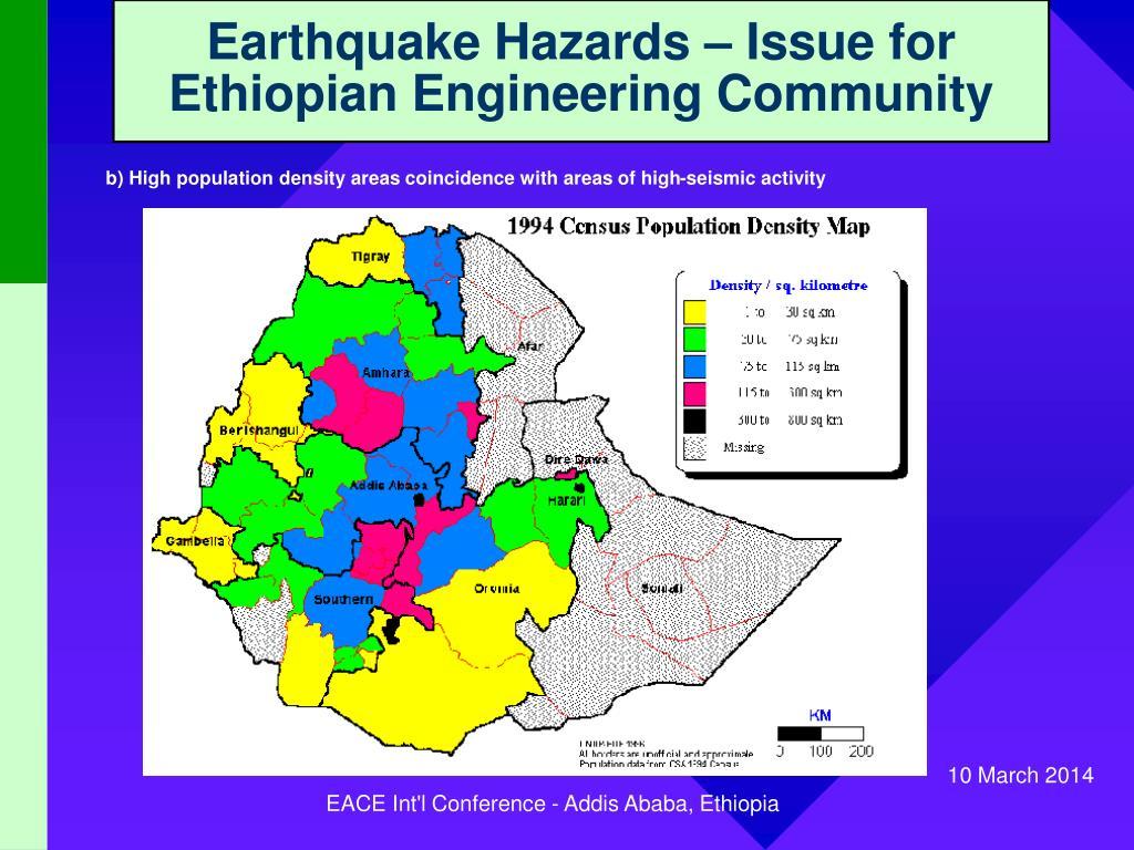 Earthquake Hazards – Issue for Ethiopian Engineering Community