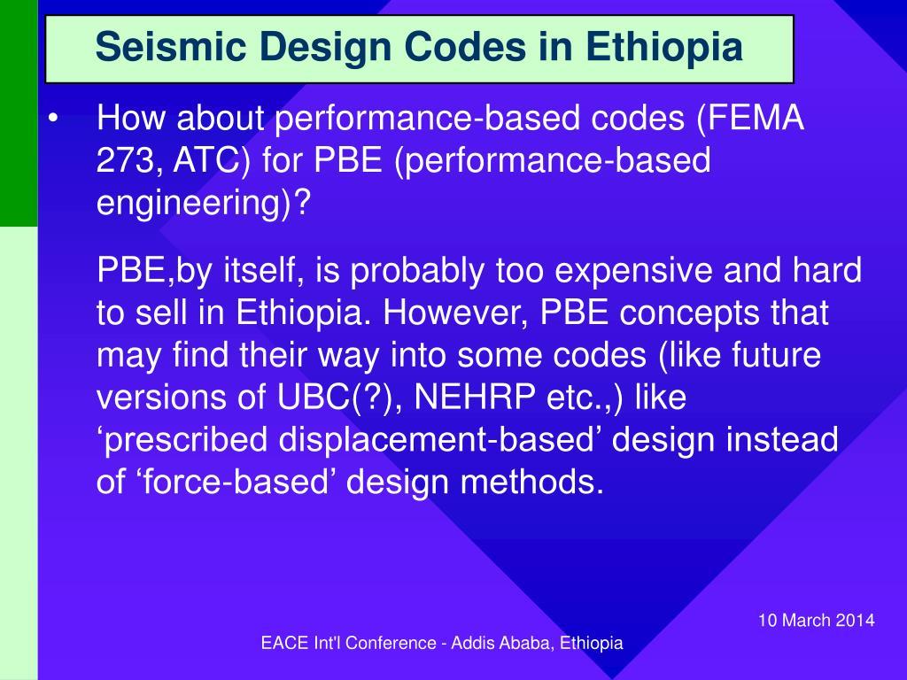 Seismic Design Codes in Ethiopia