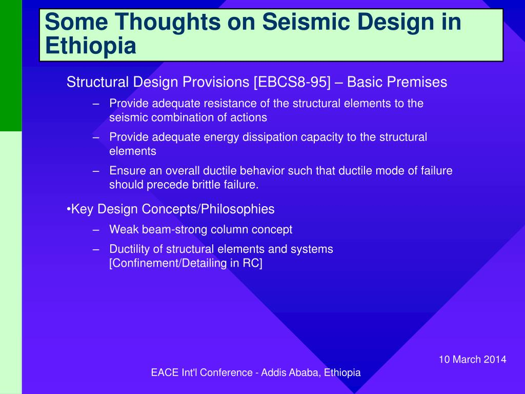 Some Thoughts on Seismic Design in Ethiopia