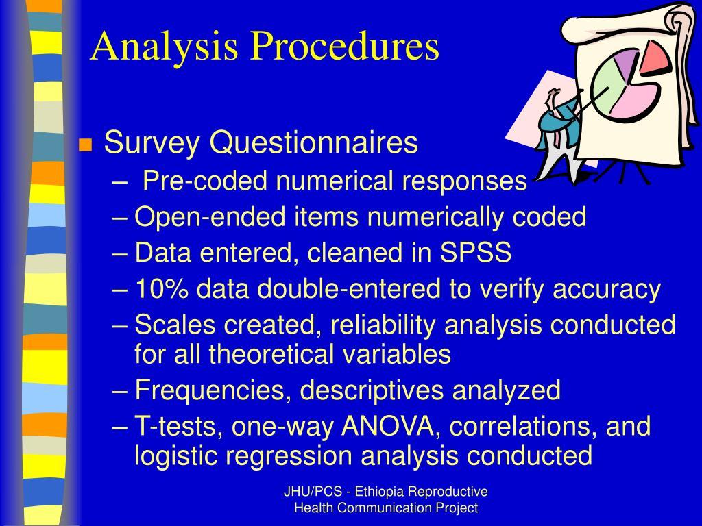 Analysis Procedures
