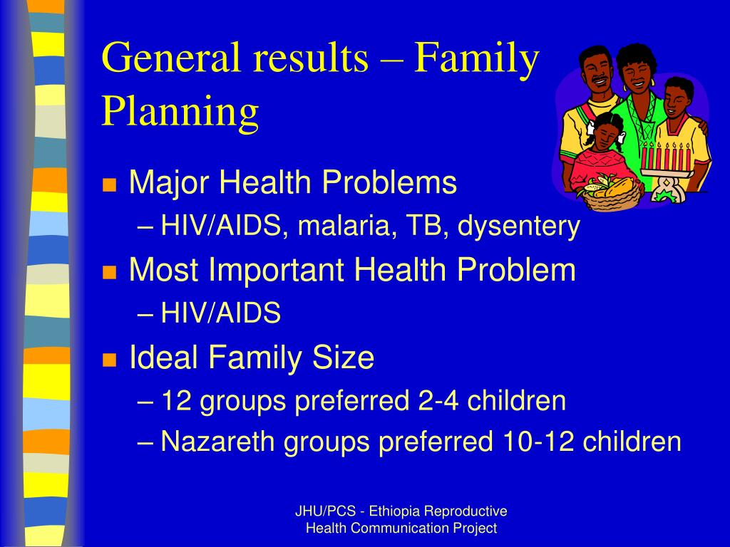 General results – Family Planning