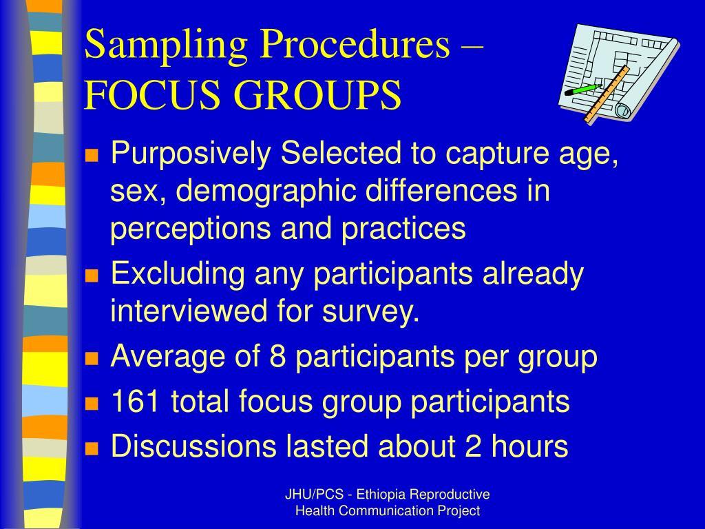 Sampling Procedures –