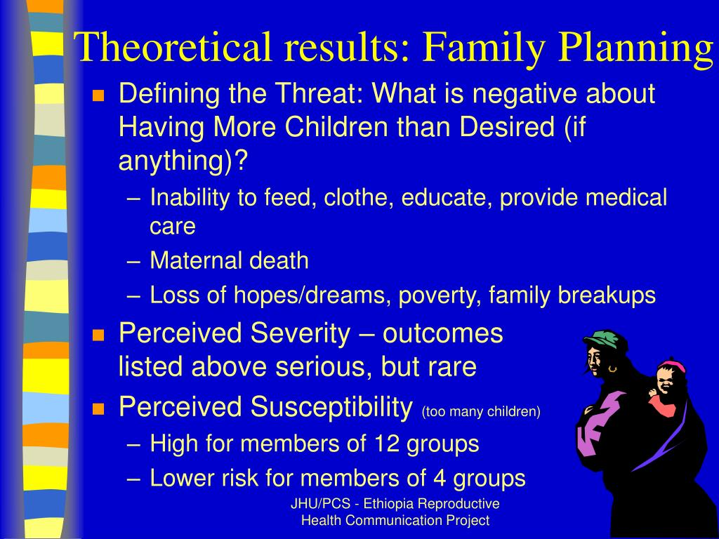Theoretical results: Family Planning