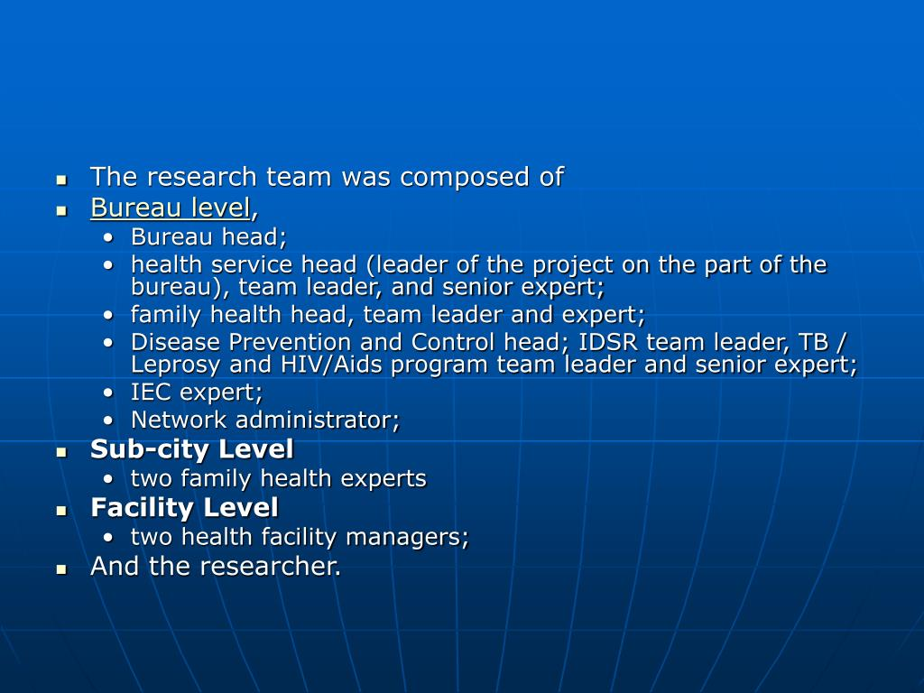 The research team was composed of