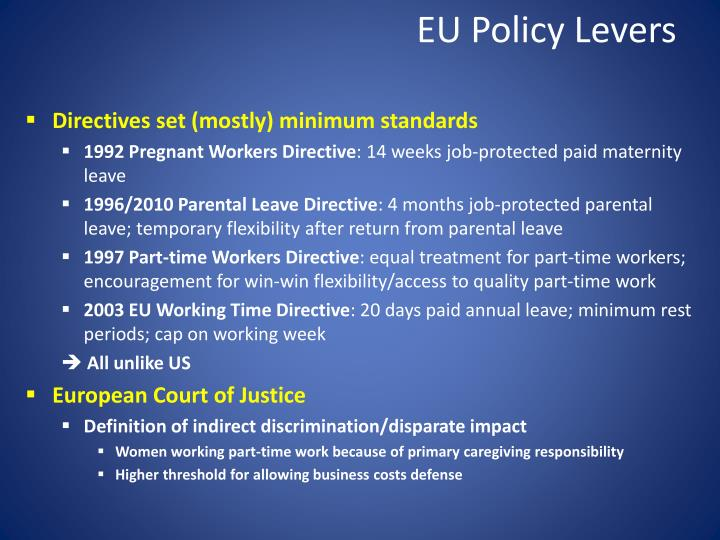 EU Policy Levers
