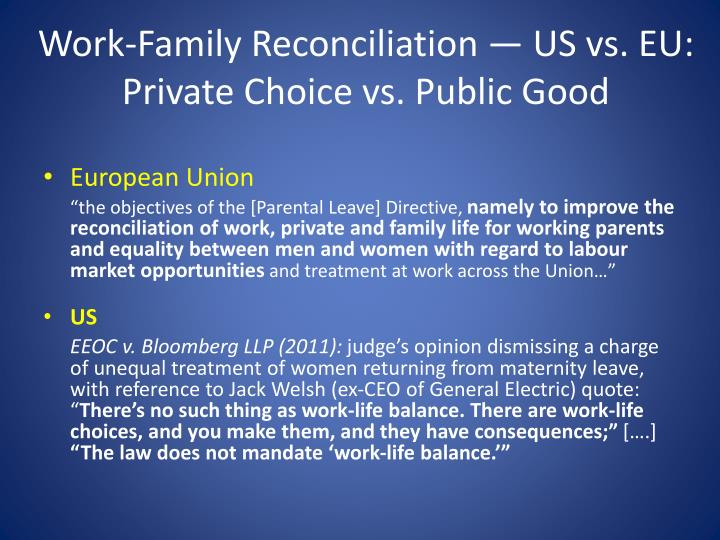 Work-Family Reconciliation —
