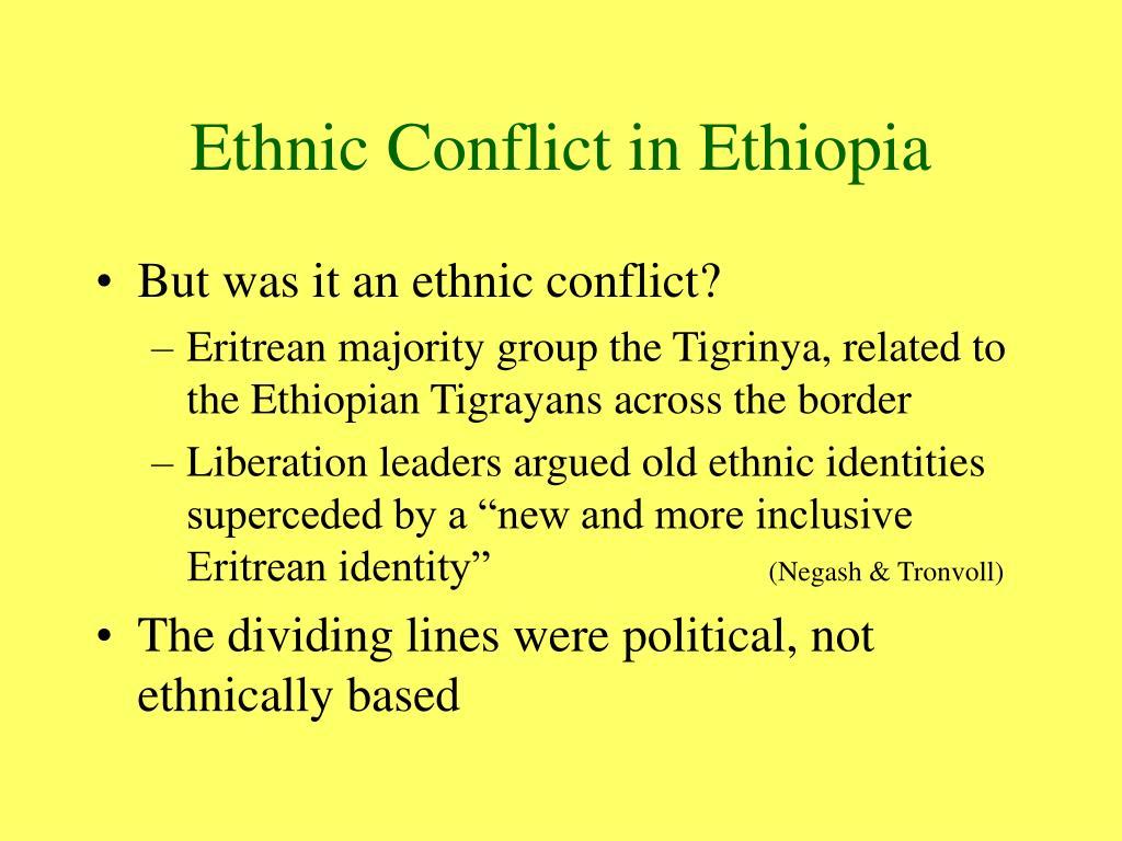Ethnic Conflict in Ethiopia