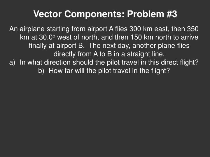 Vector Components: Problem #3