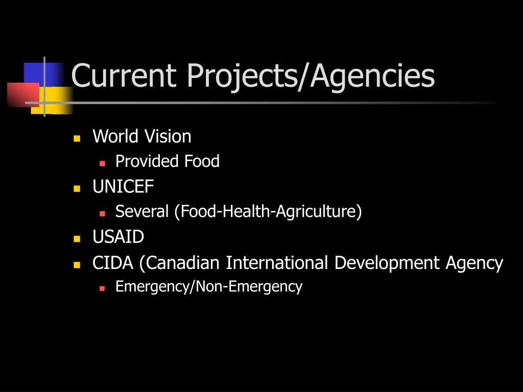 Current Projects/Agencies