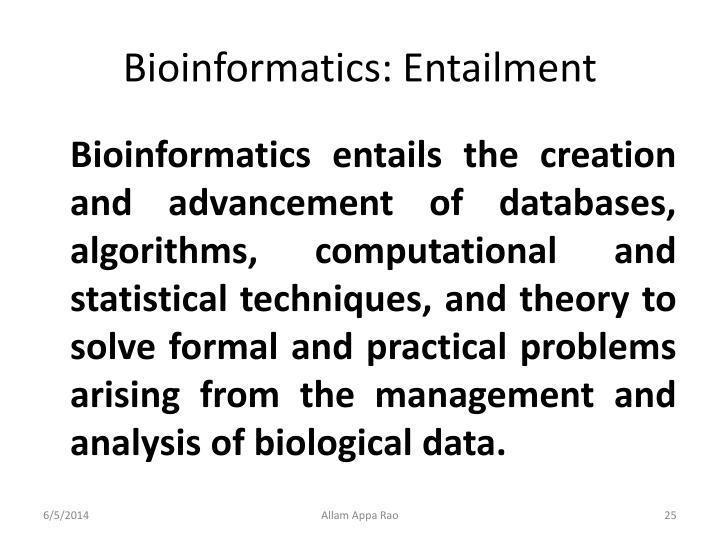 Bioinformatics: Entailment