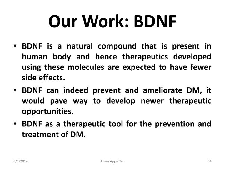 Our Work: BDNF