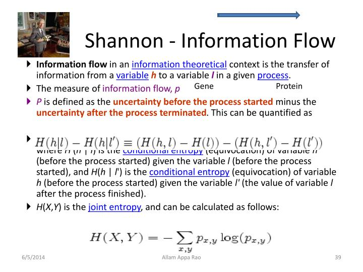 Shannon - Information Flow