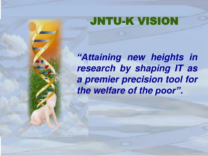 JNTU-K VISION
