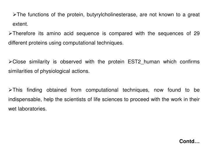 The functions of the protein,