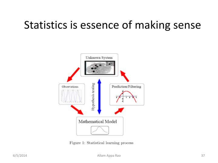 Statistics is essence of making sense