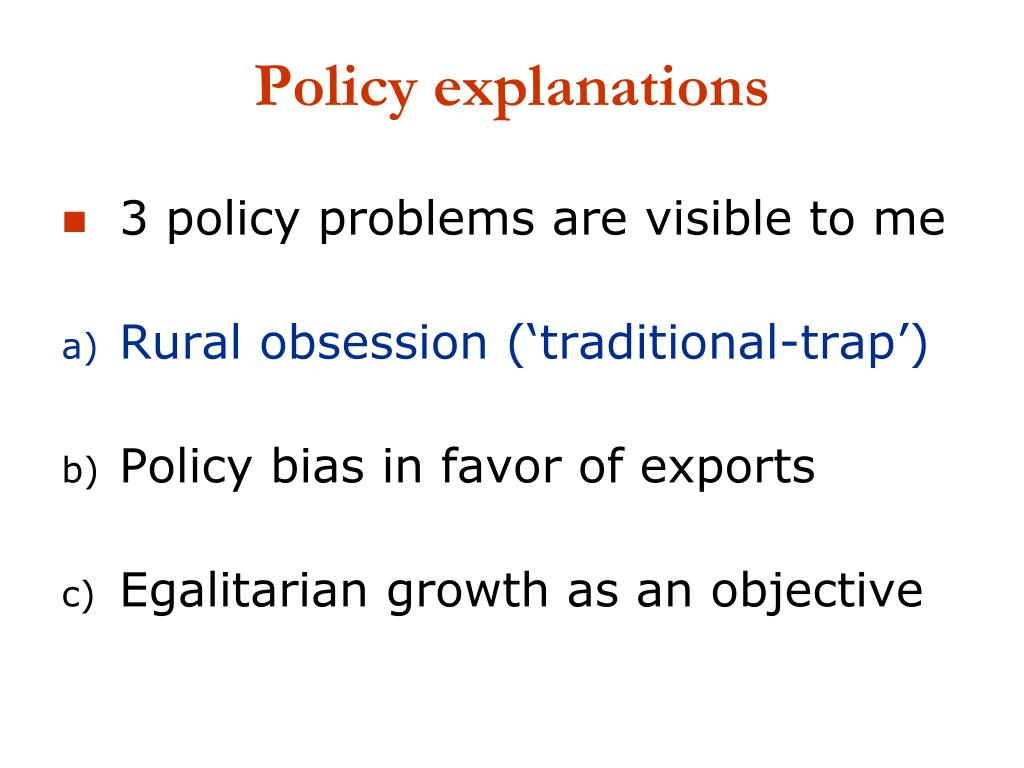 Policy explanations