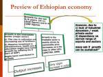 preview of ethiopian economy